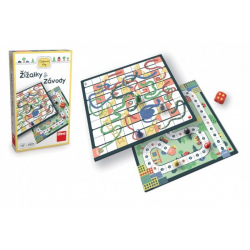Obrázek Žížalky a Závody cestovní společenská hra v krabičce 18x11x4cm