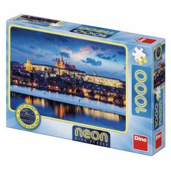 Obrázek Puzzle 1000 dílků neon Pražský hrad