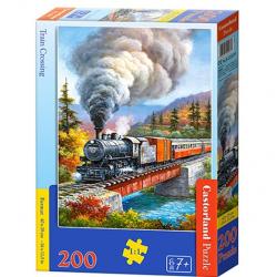 Obrázek Puzzle Castorland 200 dílků premium - Vlak přejíždějící řeku