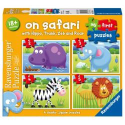 Obrázek Moje první puzzle Na safari 2/3/4/5 dílků