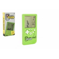 Obrázek Digitální hra Padající kostky hlavolam plast 14x7cm na baterie se zvukem v krabičce 7,5x14,5x2,5cm