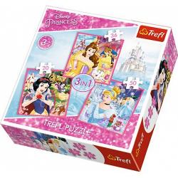 Obrázek Puzzle puzzle 3v1 - Svět princezen / Princezny