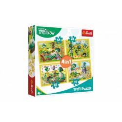 Obrázek Puzzle 4v1 Rodina Treflíků 20,5x28,5cm v krabici 28x28x6cm