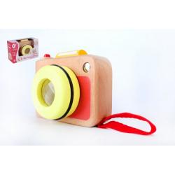Obrázek Fotoaparát/Foťák dřevo v krabičce 13x8,5x5,5cm 10m+