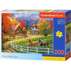 Obrázek Puzzle Castorland 200 dílků premium - Koňská farma v údolí