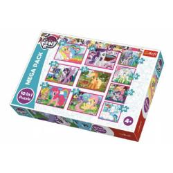 Obrázek Puzzle My Little Pony 10v1 v krabici 40x27x6cm