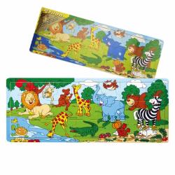 Obrázek Deskové puzzle ZOO dřevěné  21 dílů
