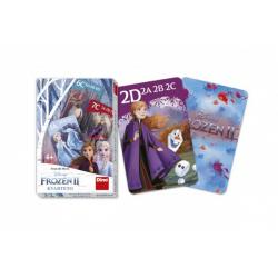Obrázek Kvarteto společenská hra Ledové království II/Frozen II v krabičce 6x9x1cm