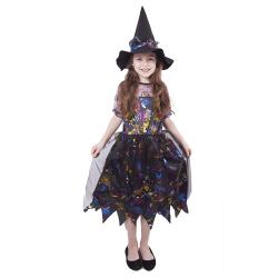 Obrázek karnevalový kostým čarodějnice barevná vel. M