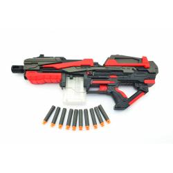 Obrázek Pistole na pěnové náboje 10ks plast 54cm