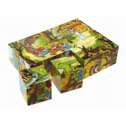 Obrázek Topa Drevené obrázkové kocky 12 ks - Snehulienka