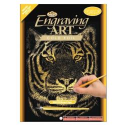 Obrázek Škrabací obrázek Royal zlatý - Tygr
