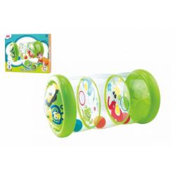Obrázek Válec edukační dětský nafukovací PVC 20,3x43,2cm + míčky 3ks v krabici 29x24x6cm 6m+