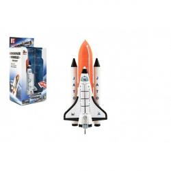 Obrázek Raketoplán kov 20cm na baterie se zvukem a světlem v krabici 14x29x10cm