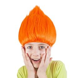 Obrázek paruka skřítek, oranžová