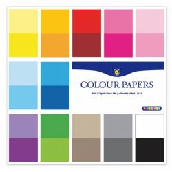 Obrázek Barevné papíry 305x305 mm, 24 listů, 180g, oboustranný