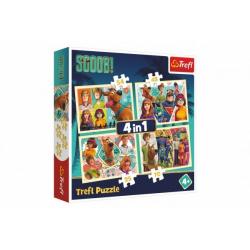 Obrázek Puzzle 4v1 Scooby Doo/Scoob! Movie 28,5x20,5cm v krabici 28x28x6cm