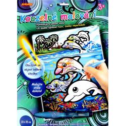 Obrázek Kúzelné maľovanie - ŠTETCOM naplneným VODOU delfíny