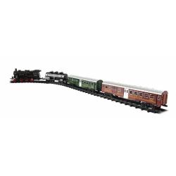 Obrázek Vlak + 3 vagóny s kolejemi 24ks plast  se světlem se zvukem