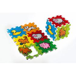 Obrázek Pěnové puzzle Moje první zvířátka 15x15x1,2cm 6ks MPZ