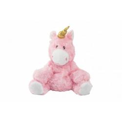 Obrázek Jednorožec/kůň růžový nahřívací plyš 25cm v sáčku
