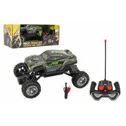 Obrázek Auto RC buggy svítící ve tmě 21cm plast 49MHz na baterie + dobíjecí pack v krabici 30x12x15cm