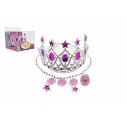 Obrázek Sada krásy korunka,náušnice,náhrdelník plast v krabičce 15x12x16cm karneval