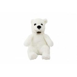 Obrázek Medvěd sedící polární plyš 15x25x19cm 0+