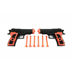 Obrázek Pistole 2ks na přísavky plast 15cm