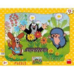 Obrázek Puzzle Krtek zahradník - 12 dílků