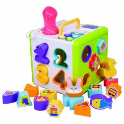 Obrázek Vkladačka telefón kocka pre najmenších 18ks plast 18x18x18cm so svetlom so zvukom od 12m +