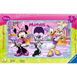 Obrázek Puzzle Minnie Mouse 15 dílků rámové