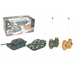 Obrázek Tank RC 2ks 20cm tanková bitva+dobíjecí pack 27MHZ se zvukem se světlem v krabici 34x16x20cm