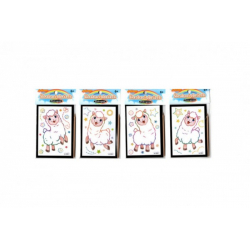 Obrázek Škrabací obrázek mini překvapení 8,5x12cm 4 druhy v sáčku 36ks v boxu