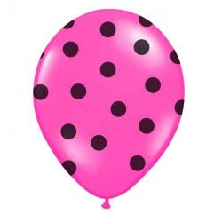 Obrázek balónik nafukovacie 30 cm s potlačou ružový - 1 ks