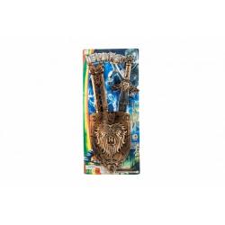 Obrázek Meč se štítem a pouzdrem plast 55cm na kartě 25x57cm
