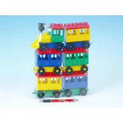 Obrázek Stavebnice LORI 8 vlak + 5 vagónků plast v sáčku