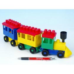Obrázek Stavebnice LORI 7 vlak + 2 vagónky plast v sáčku