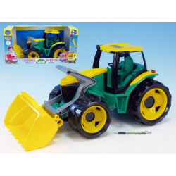 Obrázek Traktor sa lyžicou plast zeleno-žltý 65cm