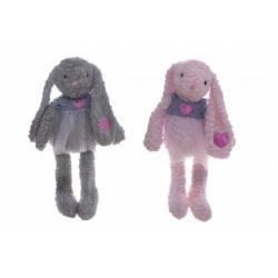 Obrázek Králík/králíček se sukýnkou plyš 60cm 2 barvy v sáčku 0+