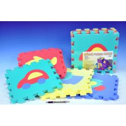 Obrázek Pěnové puzzle Dopravní prostředky 30x30cm 10ks v sáčku