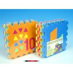 Obrázek Penové puzzle Počítanie / Tvary 30x30cm 10ks v sáčku