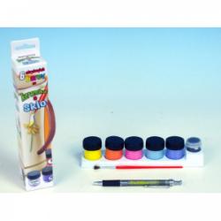 Obrázek Akrylové barvy na keramiku a sklo- 6 barev