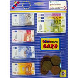 Obrázek Bankovky a Euro mince
