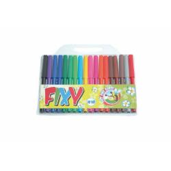 Obrázek Fixy barevné 18ks v plastovém sáčku