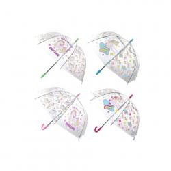 Obrázek Deštník jednorožci průhledný vystřelovací