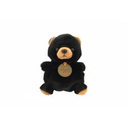Obrázek Medvěd/Medvídek černý sedící plyš 11x11x10cm 0+