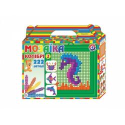 Obrázek Mozaika sada plast mořský svět barevná 222ks v krabičce 22x20x5cm