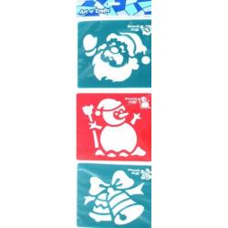 Obrázek Šablony 3 ks - zvonec, sněhulák a Mikuláš