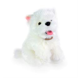 Obrázek plyšový pes westík sedící, 23 cm